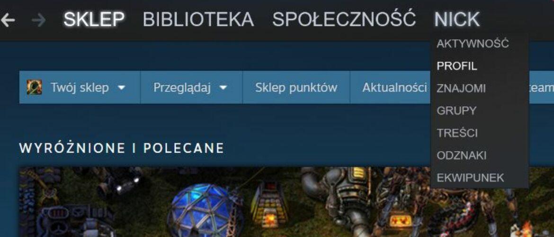 Jak zmienić nick na Steamie?