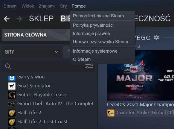 Jak zwrócić grę na Steam - krok 2