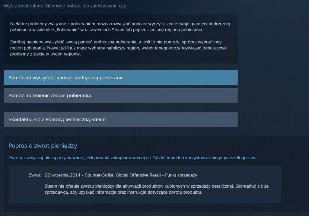 Jak zwrócić grę na Steam - krok 6